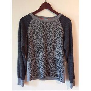 C&C California Grey Leopard Print Sweater Size M